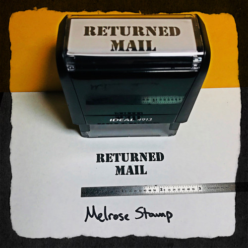 Returned Mail Stamp Black Large