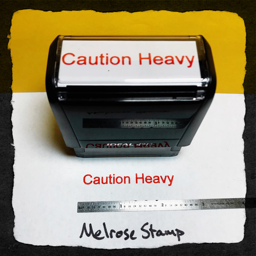 Caution Heavy Stamp Red Ink Large
