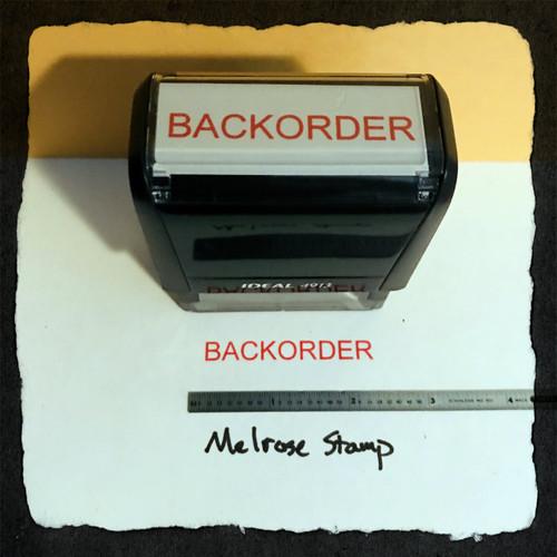 Backorder Stamp Red Ink Large 2