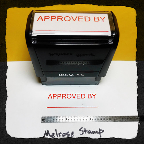Approved By Stamp Red Ink Large