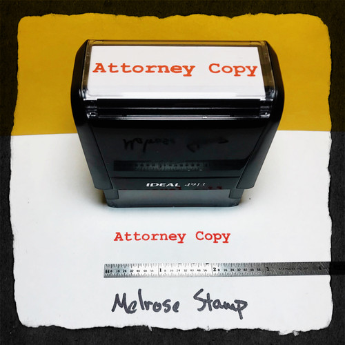 Attorney Copy Stamp Red Ink Large