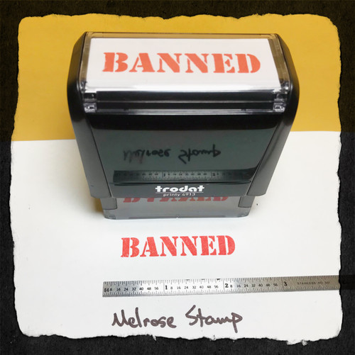 Banned Stamp Red Ink Large