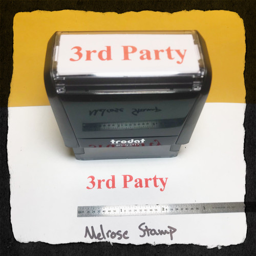 3rd Party Stamp Red Ink Large