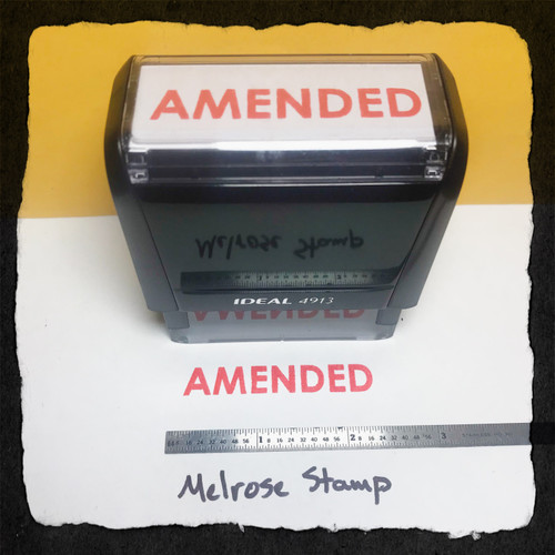 Amended Stamp Red Ink Large