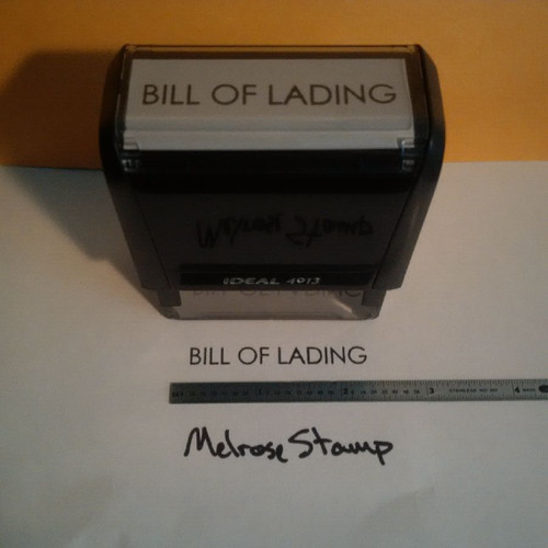 BILL OF LADING Rubber Stamp for mail use self-inking