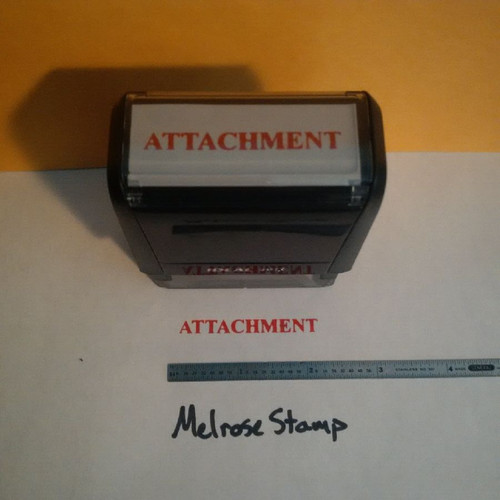 ATTACHMENT Rubber Stamp for office use self-inking