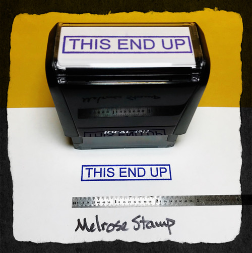 This End Up Stamp Purple Ink Large