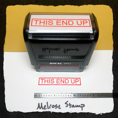 This End Up Stamp Red Ink Large