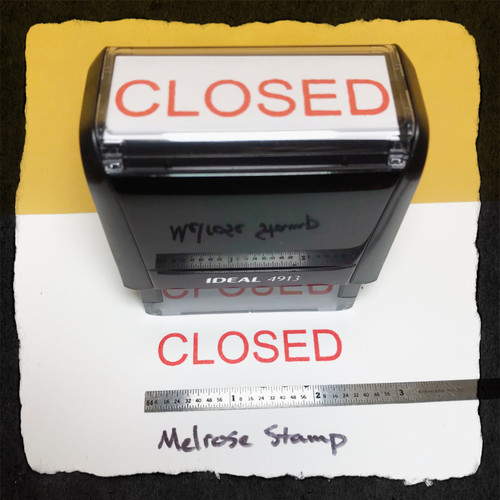Closed Stamp Red Ink Large
