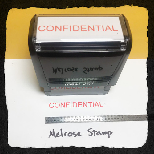 Confidential Stamp Red Ink Large