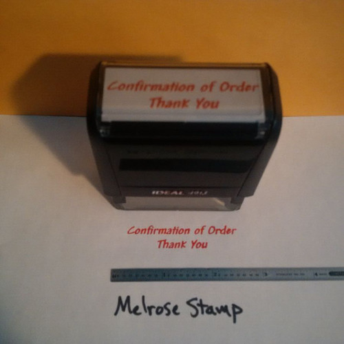 CONFIRMATION OF ORDER THANK YOU Rubber Stamp for office use self-inking