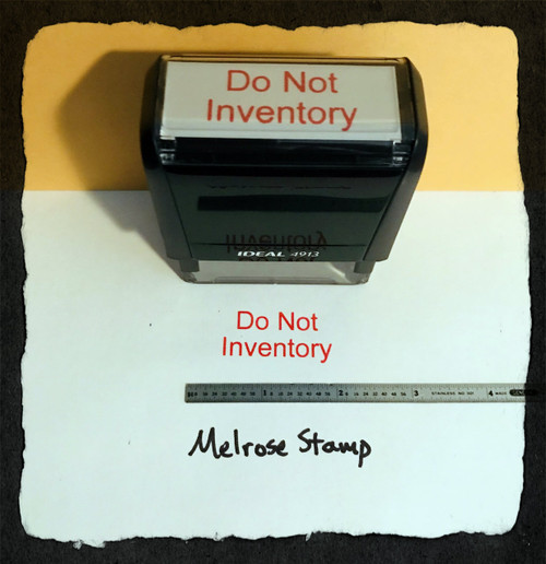 Do Not Inventory Stamp Red Ink Large 2
