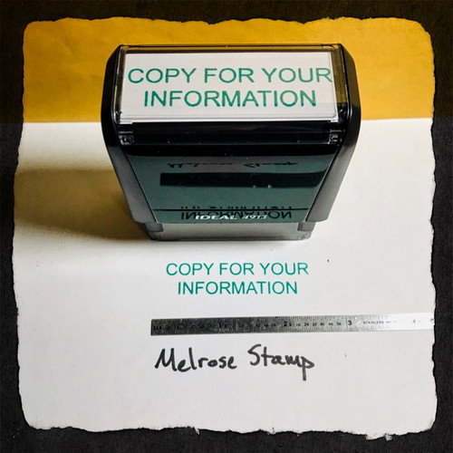Copy For Your Information Stamp Green Ink Large