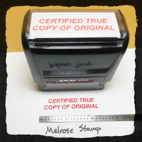 Certified True Copy Of Original Stamp Red Ink Large
