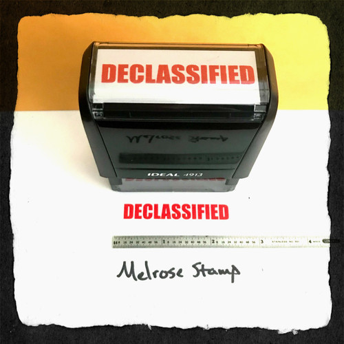 Declassified Stamp Red Ink Large 2