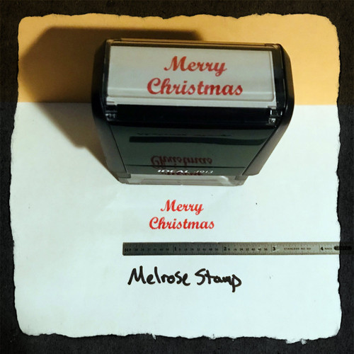 Merry Christmas Stamp Red Ink Large 2