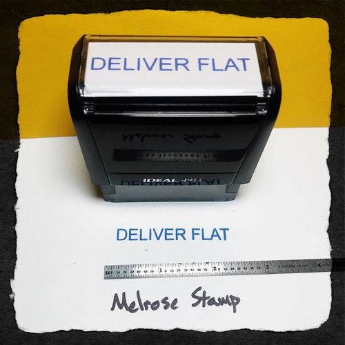 Deliver Flat Stamp Blue Ink large