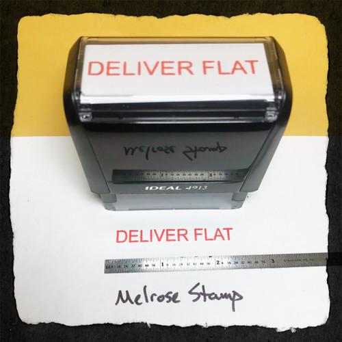 Deliver Flat Stamp Red Ink large