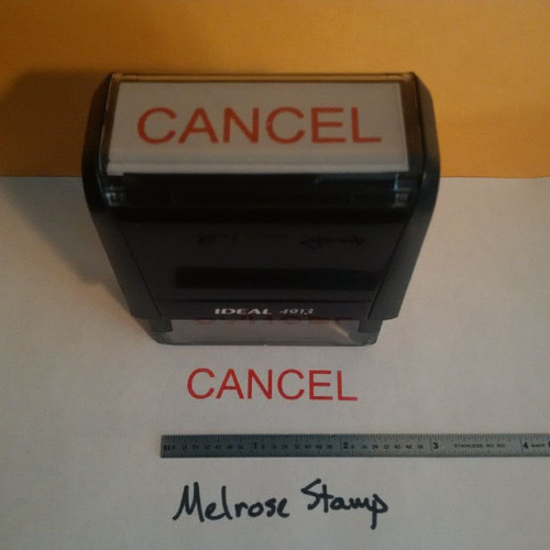 CANCEL Rubber Stamp for office use self-inking