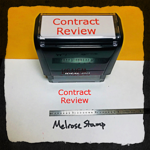 Contract Review Stamp Red Ink Large