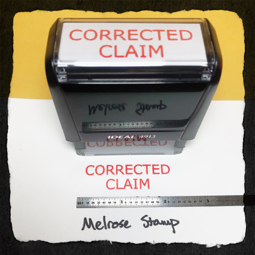 Corrected Claim Stamp Red Ink Large
