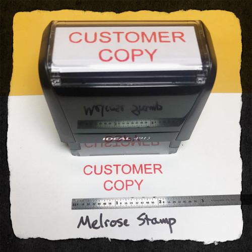 Customer Copy Stamp Red Ink Large