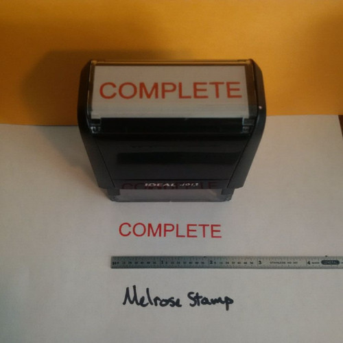 COMPLETE Rubber Stamp for office use self-inking