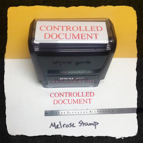 Controlled Document Stamp Red Ink Large
