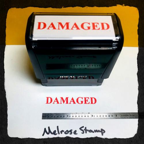 Damaged Stamp Red Ink Large