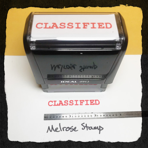 Classified Stamp Red Ink Large