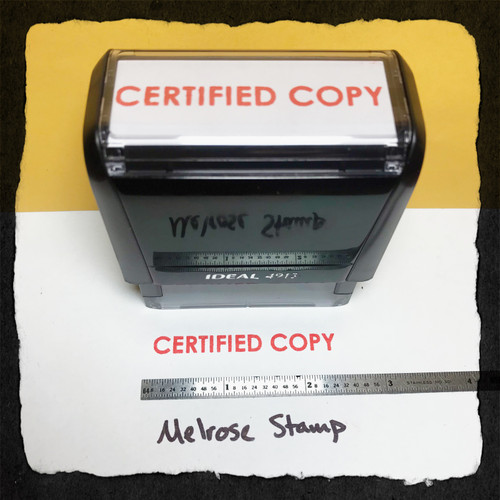 Certified Copy Stamp Red Ink Large