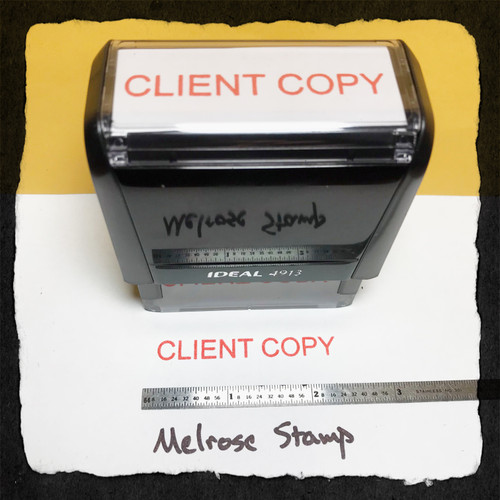 Client Copy Stamp Red Ink Large