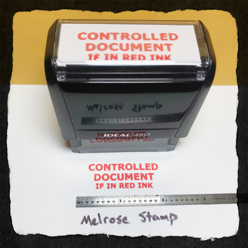 Controlled Document If In Red Ink Stamp Large