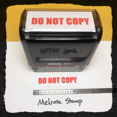 Do Not Copy Stamp Red Ink Large