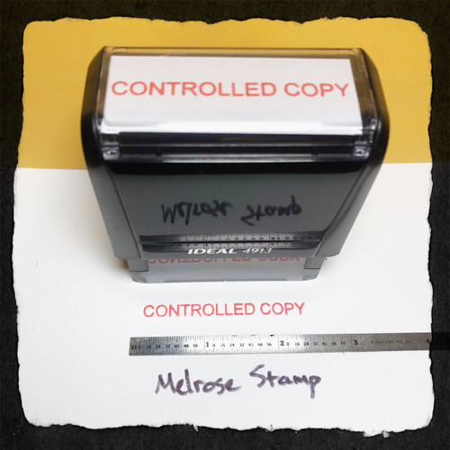 Controlled Copy Stamp Red Ink Large
