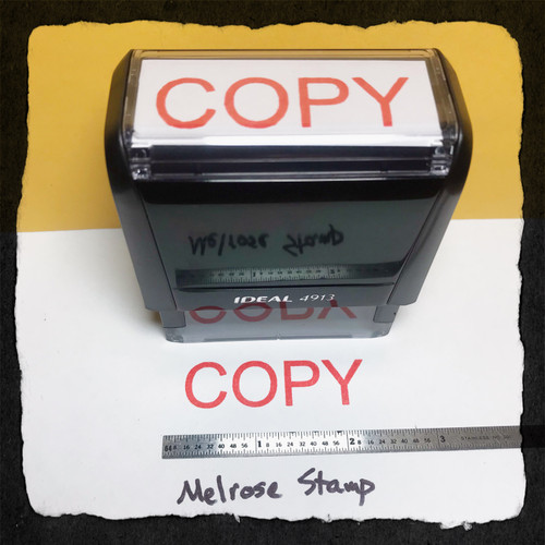 Copy Stamp Red Ink Large