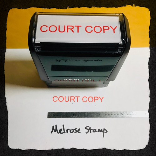 Court Copy Stamp Red Ink Large