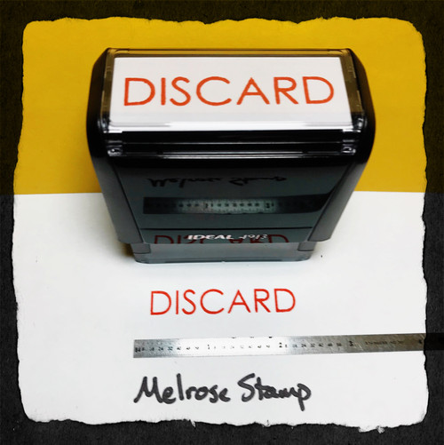 Discard Stamp Red Ink Large