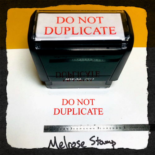 Do Not Duplicate Stamp Red Ink Large