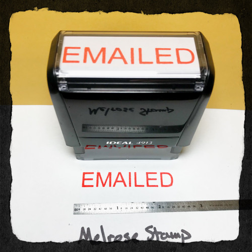 Emailed Stamp Red Ink Large