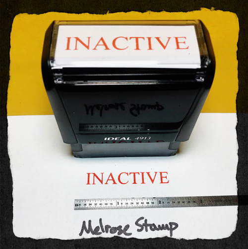 Inactive Stamp Red Ink Large