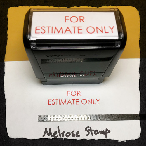 For Estimate Only Stamp Red Ink