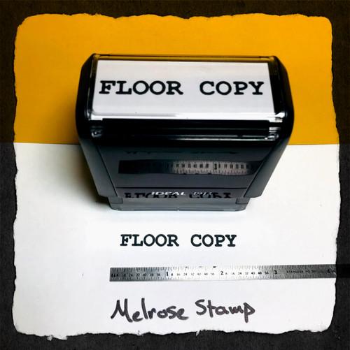 Floor Copy Stamp Black ink Large