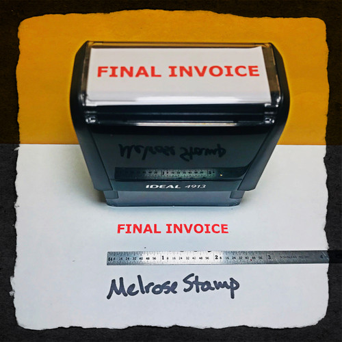Final Invoice Stamp Red Ink Large