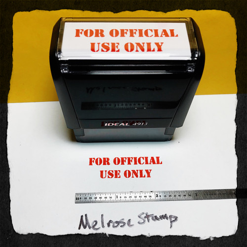For Official Use Only Stamp Red Ink Large