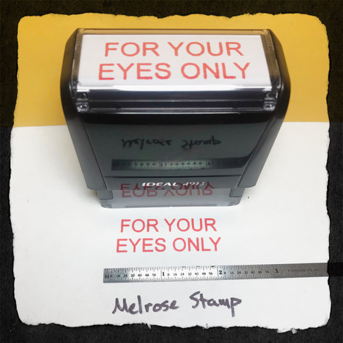 For Your Eyes Only Stamp Red Ink Large