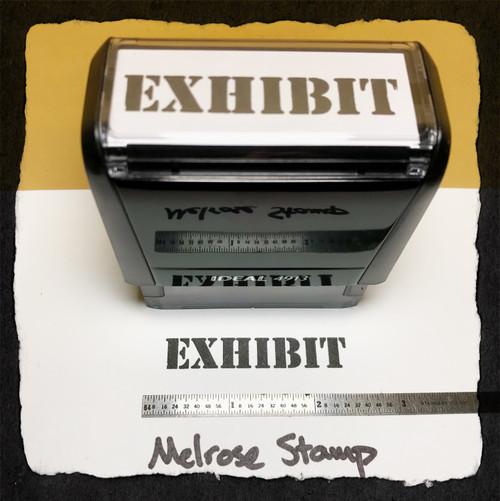 Exhibit Stamp Black Ink Large
