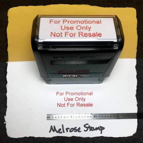 For Promotional Use Only Not For Resale Stamp Red Ink Large