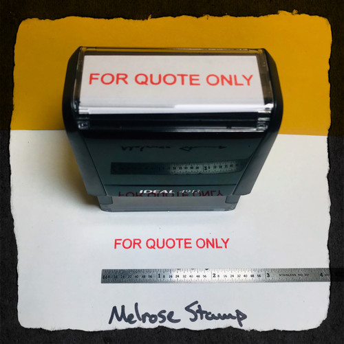 For Quote Only Stamp Red Ink Large