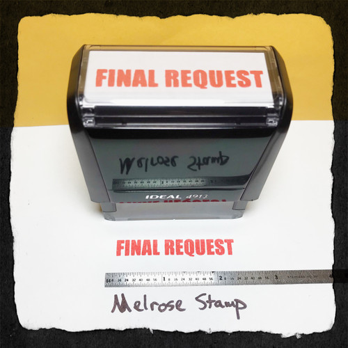 Final Request Stamp Red Ink Large